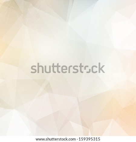 Light soft colors subtle vector abstract polygonal background. Modern and trendy geometric pattern. Smooth and light tones.