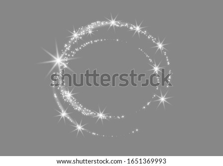 light star spark  dust in a