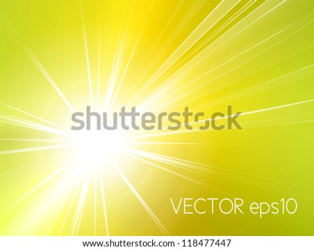 Light starburst background - abstract sun and rays