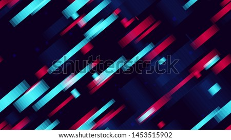 DIgital glitch seamless pattern - Download Free Vector Art, Stock