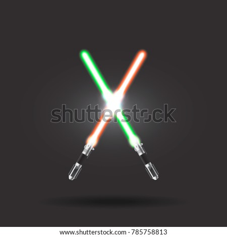 light swords on dark background