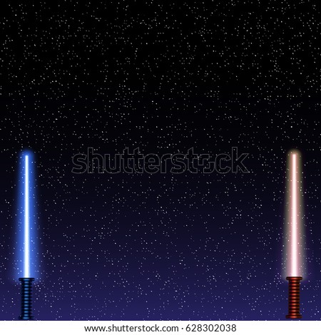 light swords on space