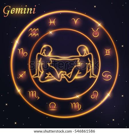 light symbol of women to gemini
