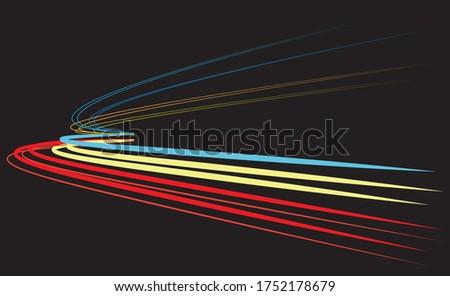light trails over black