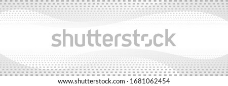 Light vector background, halftone dots, banner. Wavy shapes, shades of gray.