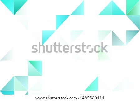 Light vector background with triangles. Triangles on abstract background with colorful gradient. Pattern for websites.