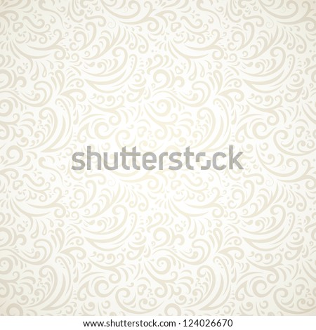 Light vintage seamless pattern with gradient