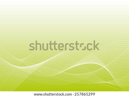 light waves on light green