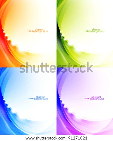 Light waves vector abstract eps10 backgrounds