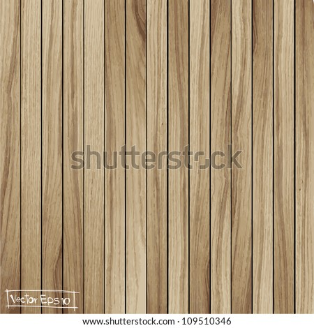 Light wood background, vector illustration