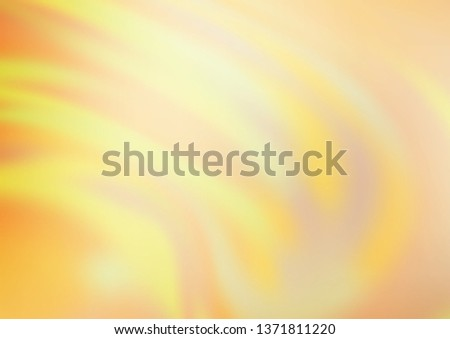 Light Yellow, Orange vector abstract blurred background. A completely new color illustration in a bokeh style. The background for your creative designs. #1371811220