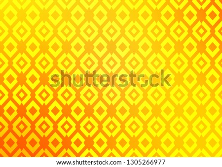 Light Yellow, Orange vector backdrop with rectangles, squares. Rectangles on abstract background with colorful gradient. Pattern for busines ad, booklets, leaflets