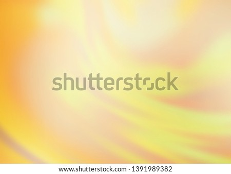 Light Yellow, Orange vector glossy bokeh pattern. Colorful illustration in abstract style with gradient. The best blurred design for your business. #1391989382