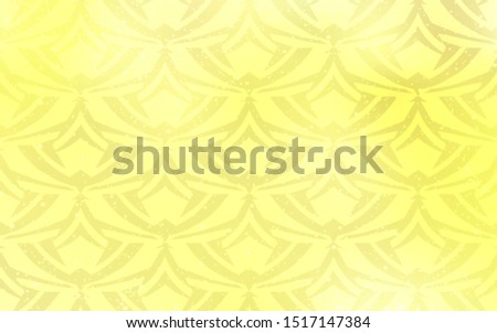 Light Yellow vector layout with lines, triangles. Triangles on abstract background with colorful gradient. Smart design for your adverts.
