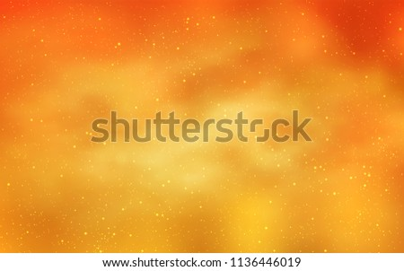 Light Yellow vector template with space stars. Blurred decorative design in simple style with galaxy stars. Pattern for astrology websites.