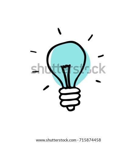 lightbulb doodle icon