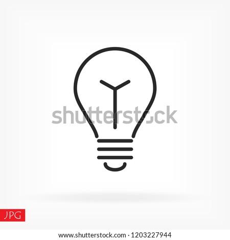lightbulb icon 10 EPS