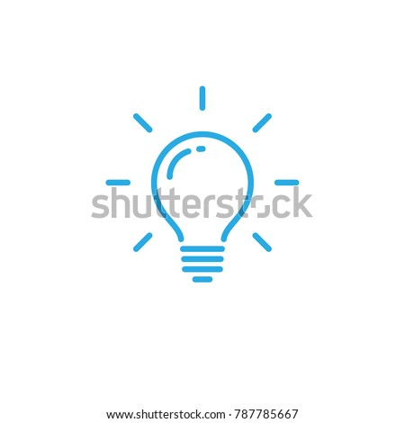 Lightbulb icon, idea symbol