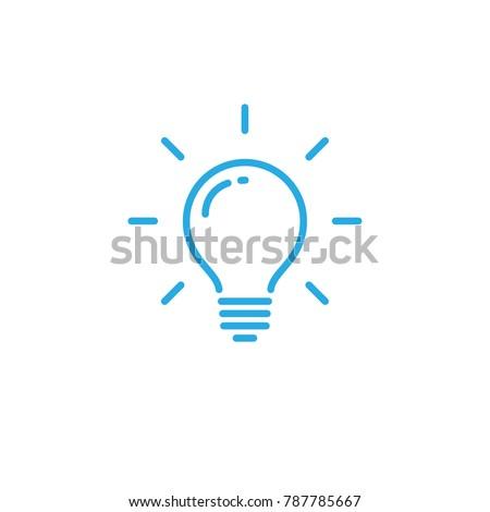 Lightbulb icon, idea symbol