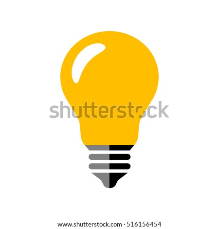 Lightbulb icon on white background