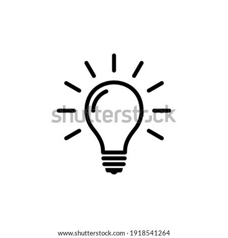 Lightbulb icon vector. bulb, creative, ideas, solution icon symbol illustration
