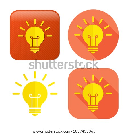 lightbulb icon - vector light bulb - idea symbol - energy illustration - electricity concept