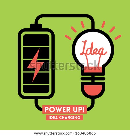 Lightbulb Idea Charging Battery Power Vector
