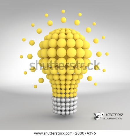 lightbulb idea concept 3d