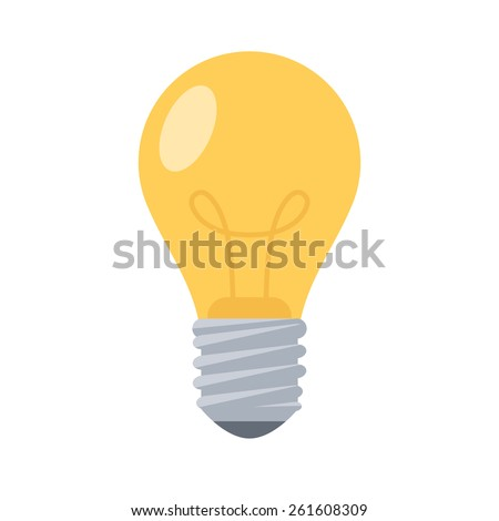 Lightbulb. Isolated icon pictogram. Eps 10 vector illustration.