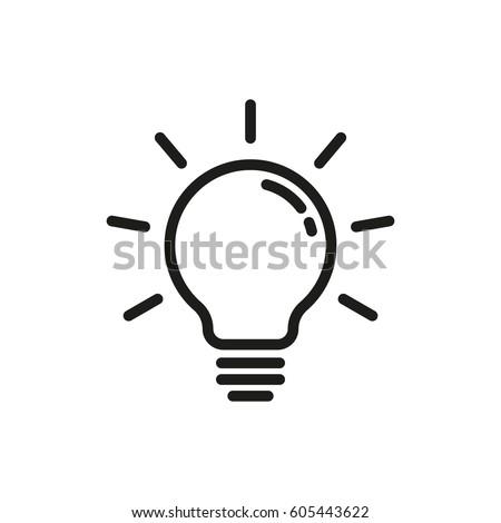 Lightbulb line icon. Vector