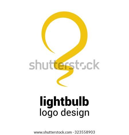 lightbulb logo template....