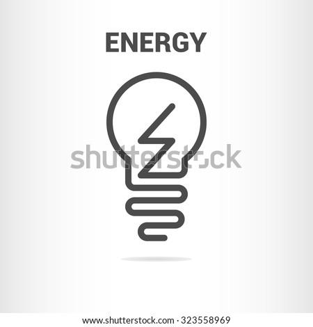 Lightbulb logo template. Lightbulb icon. Lightbulb outline icon. Business logo template