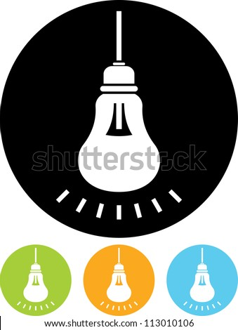 Lightbulb shining - Vector icon