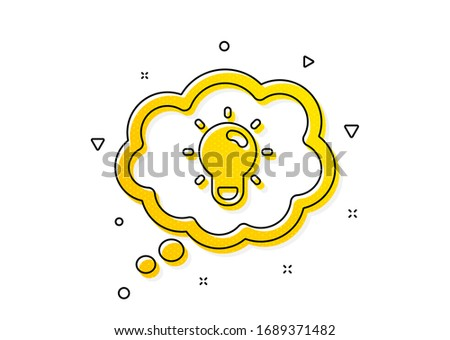 Lightbulb sign. Energy icon. Electric power symbol. Yellow circles pattern. Classic energy icon. Geometric elements. Vector