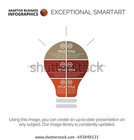 Lightbulb statistic chart template 1