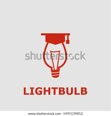 Lightbulb symbol. Outline lightbulb icon. Lightbulb vector illustration for graphic art.