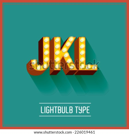 lightbulb typeface vector