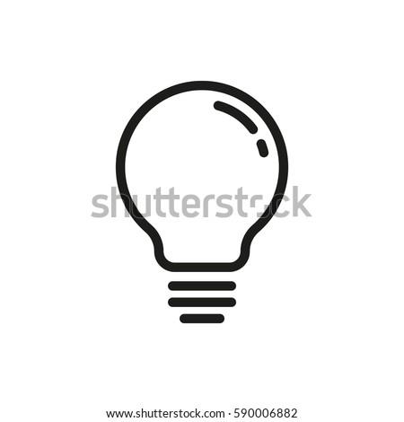 Lightbulb vector icon