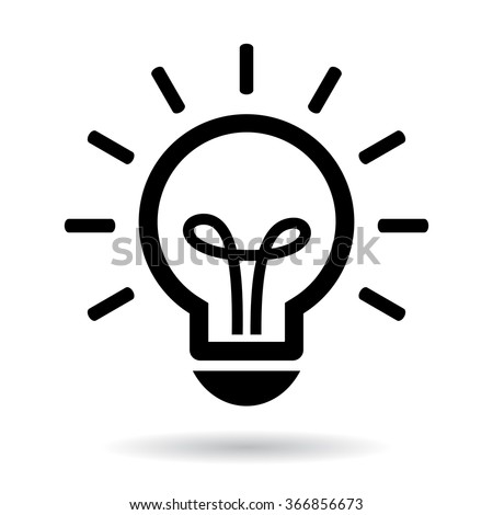 Lightbulb vector icon illustration isolated on white background Foto d'archivio ©