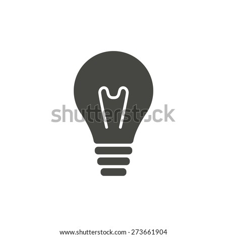 Lightbulb - vector icon in black on a white background.