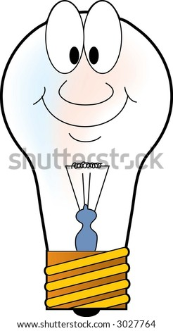 Lightbulb with face