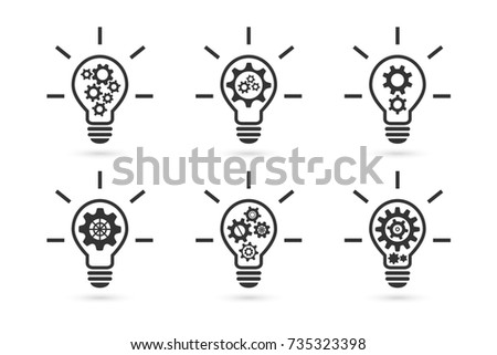 Icon graphic of lightbulb illustration vector - Download