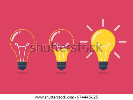 Lightbulb with liquid inside. Creative idea concept Vector illustration