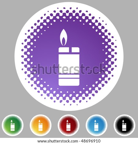 Lighter button isolated on a background.