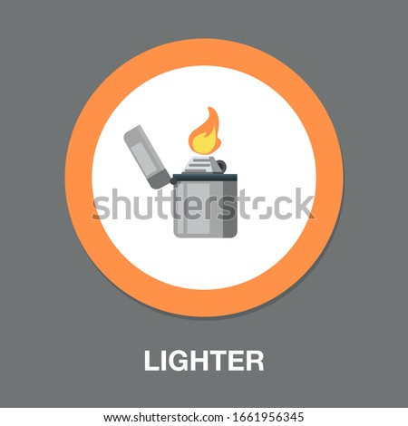 lighter icon fire sign smoking