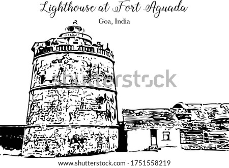 lighthouse at fort aguada   goa