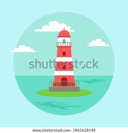 lighthouse blue seascape
