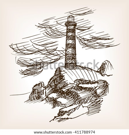 lighthouse building sketch