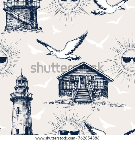 lighthouse  cabin and sunny