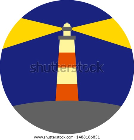 lighthouse color vector icon